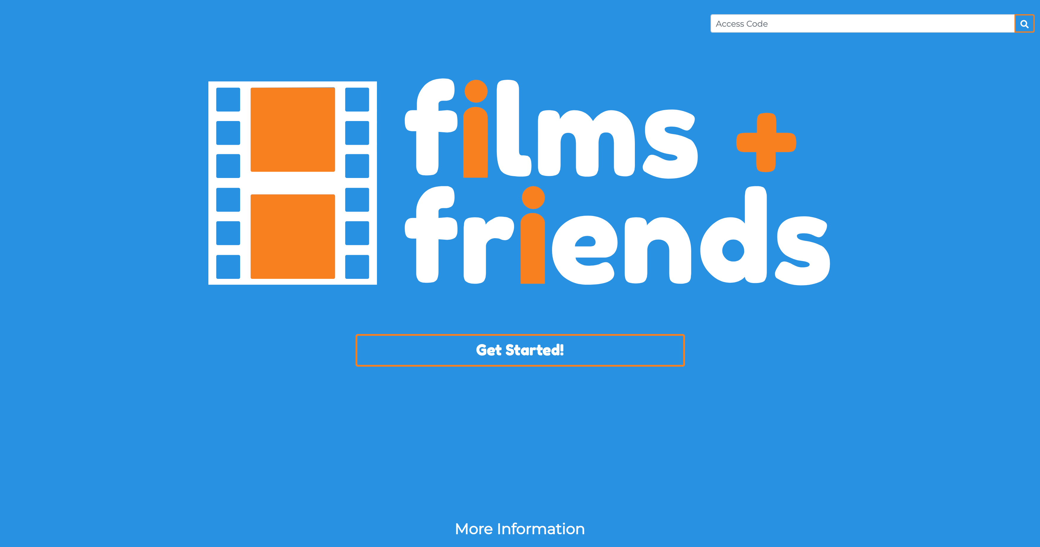 Films + Friends is a service aimed at helping users plan what movies to watch with their friends.