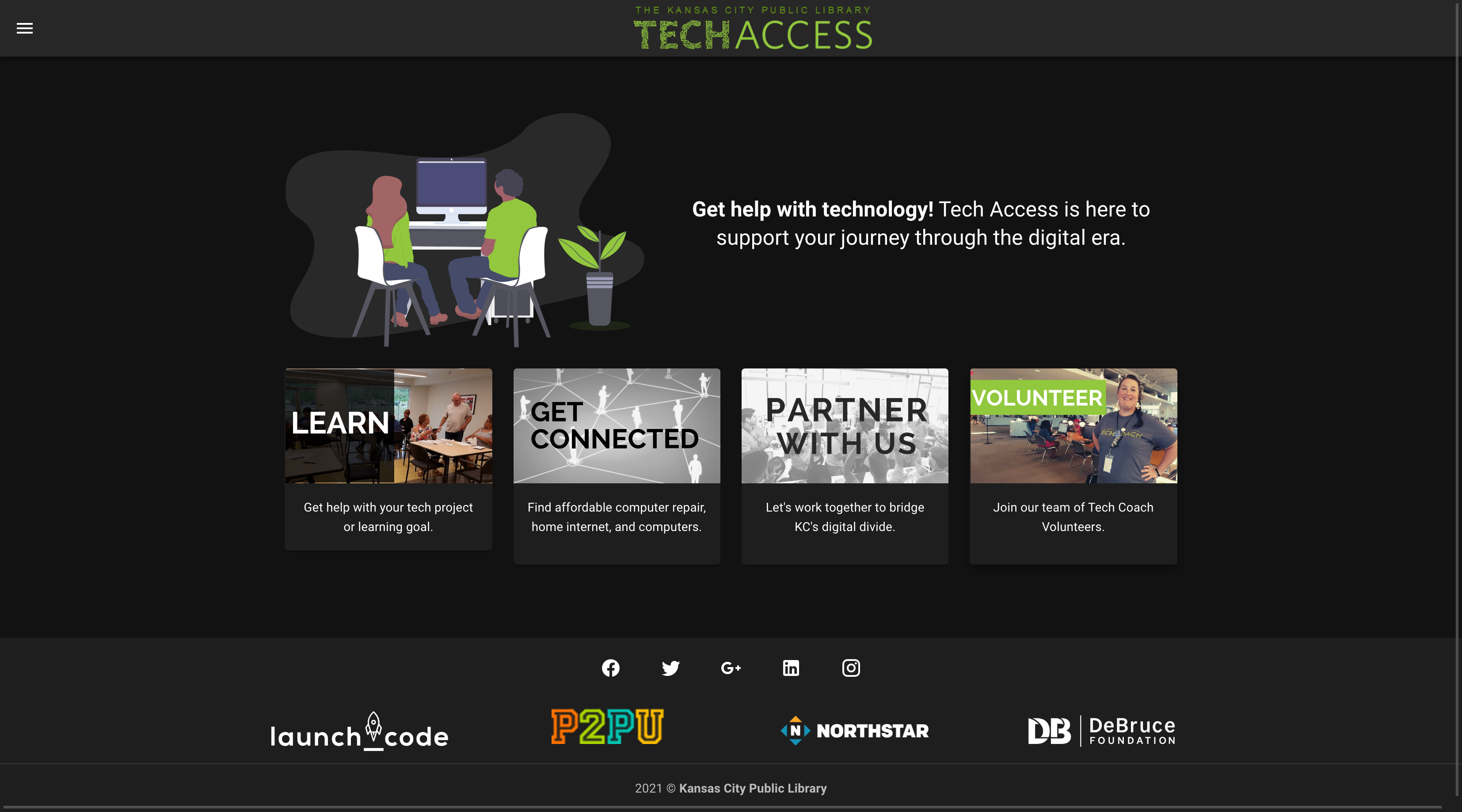 New website for the Tech Access team ran by the Kansas City Public Library